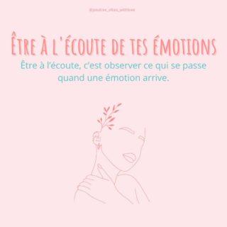 """Les émotions on toujours quelques choses à nous dire 😉  Quelle soit agréable ou désagréable, une émotion est là pour t'indiquer qu'un de tes besoins est solicité ou non.   Je te laisse en apprendre plus en faisant défiler les slides 🤓  Dans l'espace en ligne """"ma bulle positive"""" nous avons dédié un atelier entier aux émotions. Les émotions ont énormément à nous apprendre, alors traitons-les avec bienveillance et respect. Je sais qu'il est si facile d'accueillir les émotions agréables et de fuir les désagréables (j'étais la première à le faire! ). Sauf que laisse moi te dire un secret et je n'invente rien : Elles reviennent toujours ! Et la plupart du temps elles reviennent en fois mille ! Je ne te raconte pas les dégâts ! Tu as peut-être déjà fait l'expérience du retour d'émotions en pleine figure ?!  Retrouve en lien dans la bio ton PDF offert avec les 7 clés essentielles pour t'aider à t'épanouir vraiment ! 📲  👉Sur une échelle de 1 à 10, à combien arrives-tu à écouter et accueillir tes émotions ?   Pour ma part, je suis à 7 / 10 ! J'ai encore de la progression, c'est une bonne chose ! 😁  . #emotions #etrealecoute #epanouissementpersonnel #devperso #travailsursoi #devenirsoi #saimer #secouter #developpementpersonnel #coachpositive #espritpositif #coachingpositif #bienveillance #sedecouvrir #etrealigneavecsoi #attitudepositive #amourdesoi #sesentirbien"""
