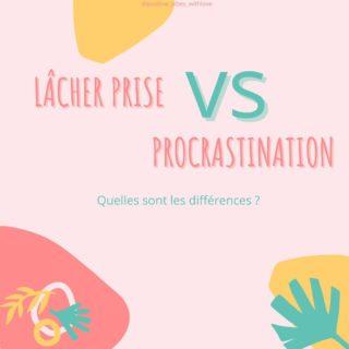 """Lâcher prise VS procrastination 😎  La procrastination et le lâcher prise sont bien deux choses différentes. Mais pas toujours facile de savoir si nous sommes dans du lâcher prise ou de la procrastination pure et dure.   Voici quelques exemples pour t'aider à identifier la procrastination du lâcher prise : (swipe 👉pour voir les différences 😁)   🤓  Arrives-tu à distinguer les fois oú tu procrastines avec les fois oú tu es dans le lâcher prise ?   * Je suis Léa, coach Happy, spécialisée dans l'état d'esprit positif et l'épanouissement personnel. Je t'accompagne à prendre conscience que tout est en toi, que toutes les réponses sont en toi et qu'il suffit de te découvrir profondément pour enfin devenir 100% actrice de ta vie ! Créatrice de ton bonheur ! ☀  📲Dans la prochaine newsletter """"Positive Vibes"""" de lundi, je te parlerai dû lâcher prise sur nos envies profondes. Si ce sujet t'intéresse je t'invite à t'inscrire (lien dans la bio)  #lacherprise #procrastination #epanouissementpersonnel #coachpositive #attitudepositive #travailsursoi #energiespositives #actricedetavie #developpementpersonnel #devperso ##sérénité #prisedeconscience #decouvertedesoi #devenirsoir #etresoi #confianceensoi"""